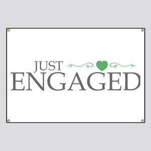 Just Engaged (Heart Scroll) Banner