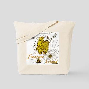 Gold Treasure Island Tote Bag