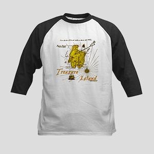 Gold Treasure Island Kids Baseball Jersey