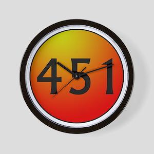 451 Fahrenheit Wall Clock
