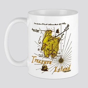 Gold Treasure Island Mug