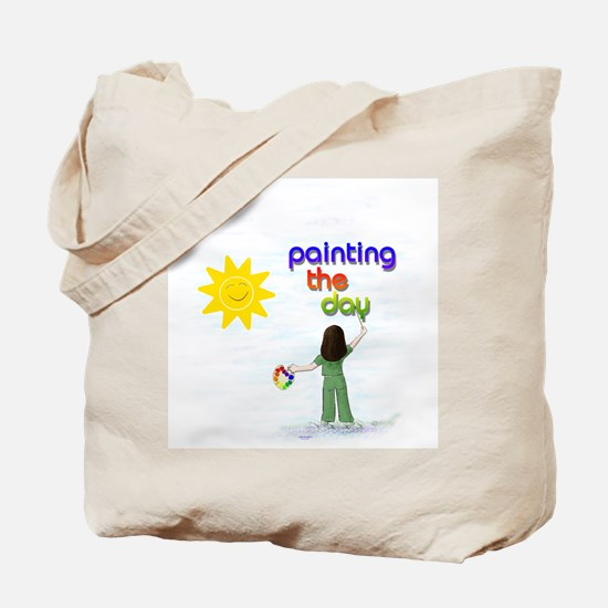 Painting the Day Tote Bag 1 (pale)