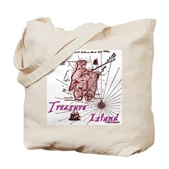 Pink Treasure Island Tote Bag