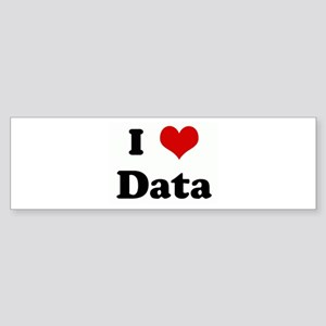 I Love Data Bumper Sticker