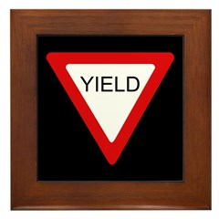 Yield Sign - Framed Tile