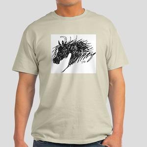 Horse Head Art Light T-Shirt