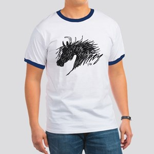 Horse Head Art Ringer T
