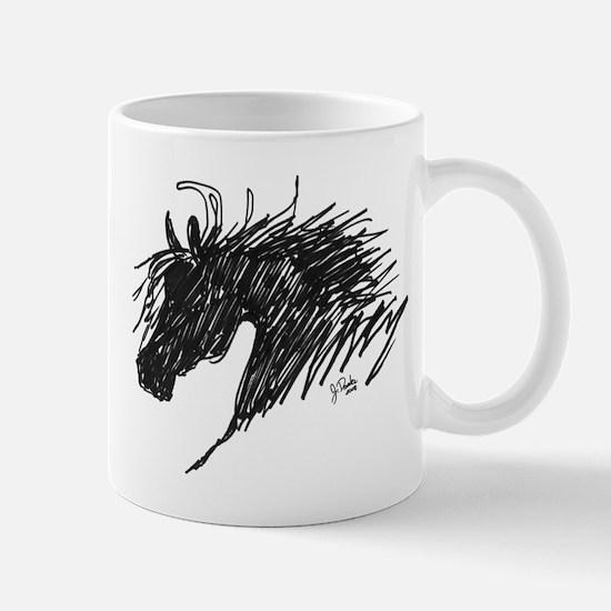 Horse Head Art Mug