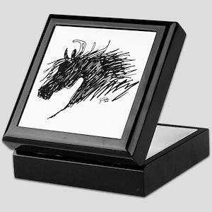 Horse Head Art Keepsake Box
