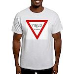 Yield to Temptation Ash Grey T-Shirt