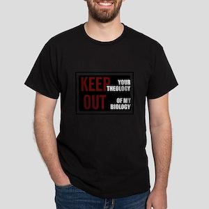 Keep Theology Out Dark T-Shirt