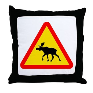 moose crossing pillows cafepress