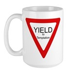Yield to Temptation Large Mug
