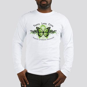 Lymphoma Tribal Butterfly Long Sleeve T-Shirt
