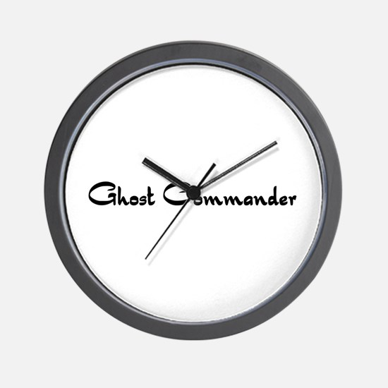 Ghost Commander Wall Clock