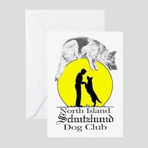 North Island Schutzhund Dog C Greeting Cards (Pack