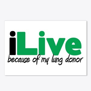 iLive Lung Postcards (Package of 8)