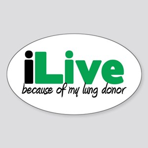 iLive Lung Oval Sticker