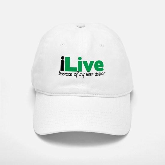 iLive Liver Baseball Baseball Cap