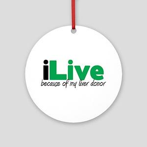 iLive Liver Ornament (Round)