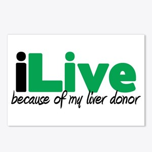 iLive Liver Postcards (Package of 8)