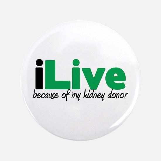 """iLive Kidney 3.5"""" Button"""