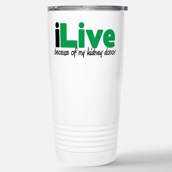 iLive Kidney Stainless Steel Travel Mug