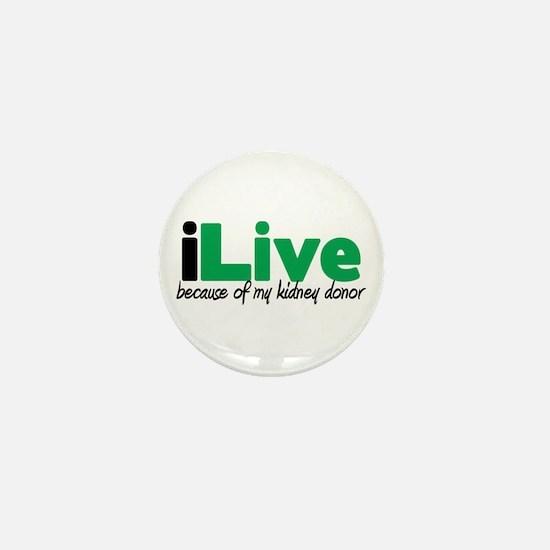 iLive Kidney Mini Button (100 pack)