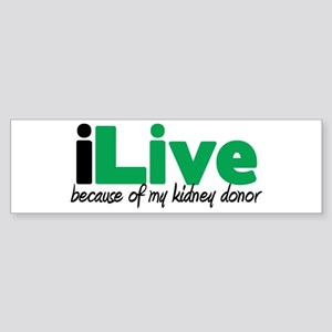 iLive Kidney Bumper Sticker