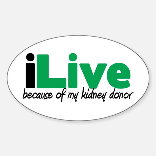 iLive Kidney Oval Decal