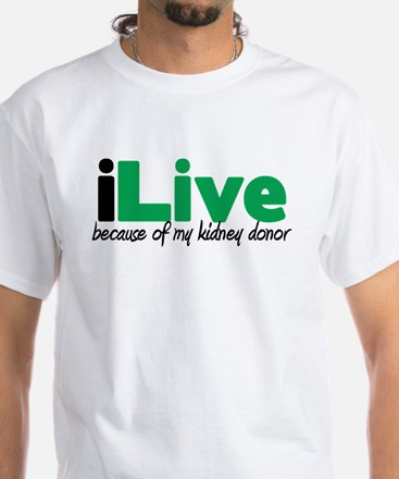 iLive Kidney White T-Shirt