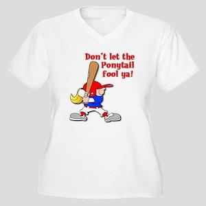 ponytail yellow 2 Plus Size T-Shirt