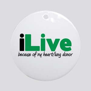 iLive Heart/Lung Ornament (Round)