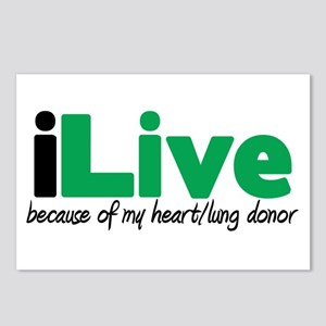 iLive Heart/Lung Postcards (Package of 8)