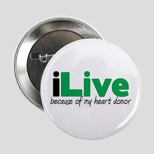 """iLive Heart 2.25"""" Button"""