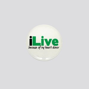 iLive Heart Mini Button