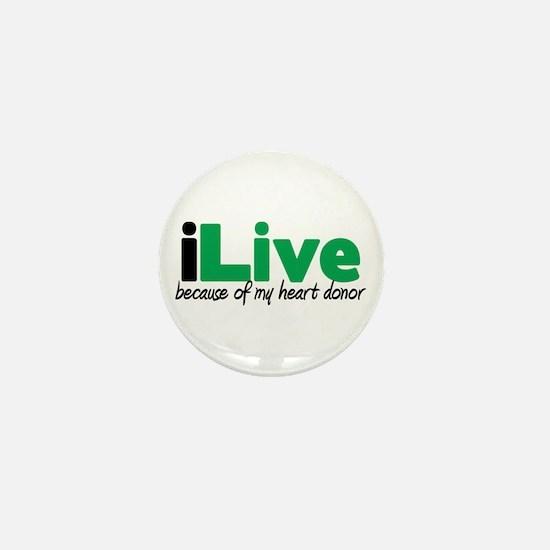 iLive Heart Mini Button