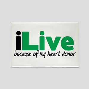 iLive Heart Rectangle Magnet
