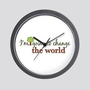 I'm Going to Change the World Wall Clock