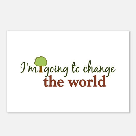 I'm Going to Change the World Postcards (Package o