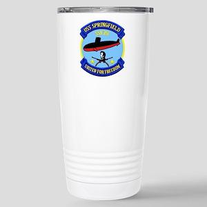 USS Springfield SSN 761 Stainless Steel Travel Mug