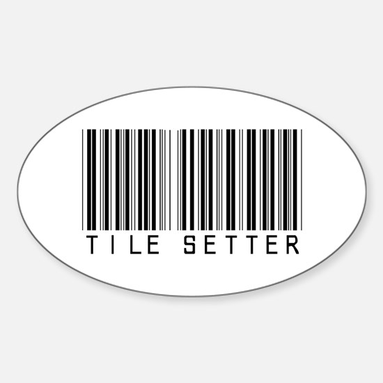 Tile Setter Barcode Oval Decal