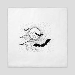 Bats And Full Moon Queen Duvet