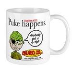 Stupid Is ... Puke Happens Mug