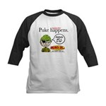 Stupid Is ... Puke Happens Kids Baseball Jersey