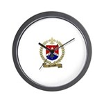 Blanchard Family Crest Wall Clock