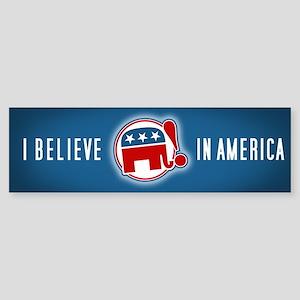 """""""I Believe in America"""" Bumper Sticker"""