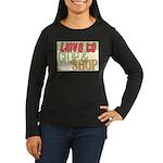 Love to Women's Long Sleeve Dark T-Shirt