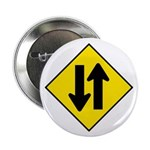 "Two-Way Traffic Sign - 2.25"" Button (10 pack)"