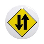 Two-Way Traffic Sign - Keepsake (Round)